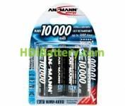 Batería recargable cilíndrica NI-MH ANSMANN LR20-MONO D 10000mAh